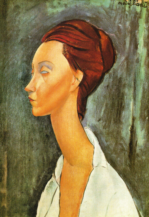 portrait of lunia czechovska 1919 XX private collection